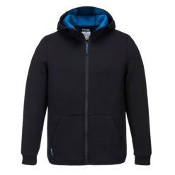 Bluza Robocza Polarowa PORTWEST T831 NEO KX3 do pracy ochronna z kapturem bhp na suwak ciepła polarowa czarno niebieska sklep bhp