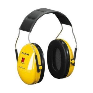 Nauszniki Przeciwhałasowe 3M OPTIME I H510A ochronniki słuchu słuchawki na hałas bhp na pałąku dobre ciche wygodne sklep bhp żółte czarne