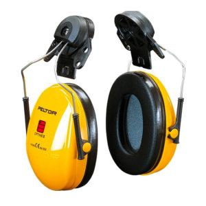 Nauszniki Nahełmowe Przeciwhałasowe 3M OPTIME I H510P3E ochronniki słuchu słuchawki na hałas bhp na pałąku dobre ciche wygodne sklep bhp żółte czarne do hełmu bez pałąka do kasku