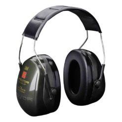 Nauszniki Przeciwhałasowe 3M OPTIME I H520A ochronniki słuchu mocne wyciszające do pracy na hałas bhp wygłuszające na pałąku ergonomiczne czarne zielone 31 db