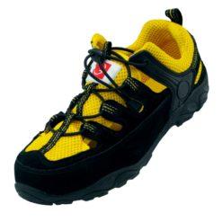 Sandały robocze GALMAG 621 S1 SRC obuwie do pracy ochronne mocne bezpieczne buty bhp sklep czarne żółte z blachą podnoskiem noskiem antypoślizgowe