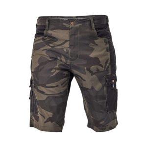 Spodenki robocze CERVA CRAMBE szorty krótkie spodnie robocze do pracy z kieszeniami cargo mocne moro wojskowe ciuchy robocze na lato zielone