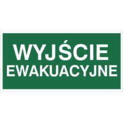 znak wyjście ewakuacyjne oznakowanie do ewakuacji budynków na płycie na folii naklejka sztywne biało zielony napis bezpieczeństwa nad drzwi