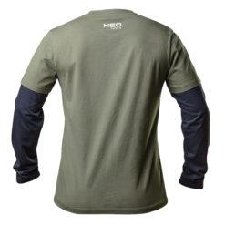 Koszulka z długim rękawem NEO TOOLS 81-616 CAMO OLIVE długi rękaw t-shirt zielony granatowy mocny lekki bawełniany do pracy roboczy ochronny ciuchy robocze sklep bhp tył