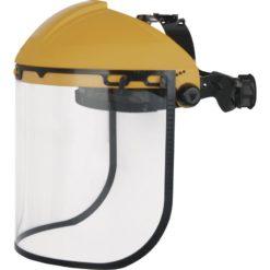 Osłona twarzy DELTA PLUS BALBI 2 przyłbica z pleksi plexi pleksiglas szybka ochrona twarzy przezroczysta żółta czarna panoply sklep bhp