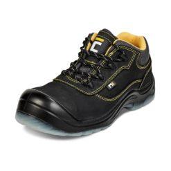 Buty robocze CERVA BK S3 SRC do pracy ochronne obuwie bezpieczne bhp skórzane czarne wodoodporne antypoślizgowe z podnoskiem antyprzebiciowe czarne żółte sklep bhp