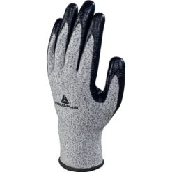 Rękawice antyprzecięciowe DELTA PLUS VENICUT33 3-pak odporne na przecięcie robocze ochronne panoply powlekane nitrylem mocne do pracy sklep bhp szare czarne