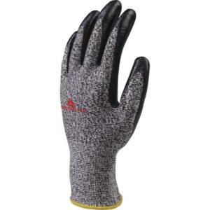 Rękawice antyprzecięciowe DELTA PLUS VENICUT43 3-pak odporne na przecięcie robocze ochronne panoply powlekane nitrylem mocne do pracy sklep bhp szare czarne