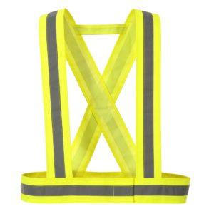 Szelki Ostrzegawcze Odblaskowe PORTWEST HV55 szelki szerokie na plecy do pracy ochronne odblaskowe pasy wysokiej widoczności na rzep dla motocyklisty żółte sklep bhp