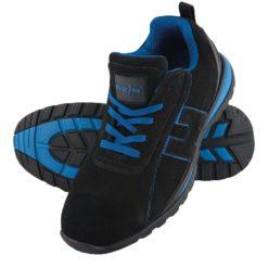 Buty robocze REIS BRCHILE SB półbuty bezpieczne z noskiem antypoślizgowa podeszwa z blachą skórzane adidasy wygodne obuwie bhp sklep sznurowane czarne niebieskie