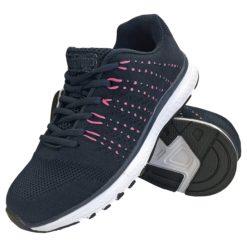 Buty robocze REIS BSTEAM GRENSHO obuwie do pracy robocze zawodowe bez podnoska sportowe adidasy granatowe różowe bez noska