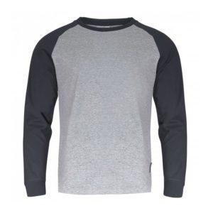 Koszulka z długim rękawem LAHTI PRO L40223 t-shirt na długi rękaw koszulka dwukolorowa grafitowa szara do pracy robocza ochronna ze ściągaczem przewiewna sklep bhp