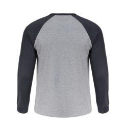 Koszulka z długim rękawem LAHTI PRO L40223 t-shirt na długi rękaw koszulka dwukolorowa grafitowa szara do pracy robocza ochronna ze ściągaczem przewiewna sklep bhp tył