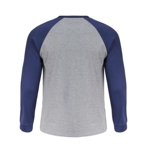 Koszulka z długim rękawem LAHTI PRO L40224 t-shirt na długi rękaw koszulka dwukolorowa granatowa szara do pracy robocza ochronna ze ściągaczem przewiewna sklep bhp tył