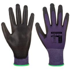 Rękawice Ochronne PORTWEST A195 Do Ekranów Dotykowych robocze do telefonu precyzyjne manualne powlekane poliuretanem fioletowe czarne do pracy bhp sklep rękawiczki