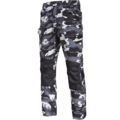 Spodnie robocze LAHTI PRO L40514 Slim-Fit Moro w pas do pasa bojówki camo białe szare czarne ochronne do pracy sklep bhp nowość slimowane