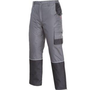 Spodnie robocze ocieplane LAHTI PRO L41015 mocne szare grafitowe z kieszeniami puchowe do pracy ochronne bhp sklep do pasa w pas mocne