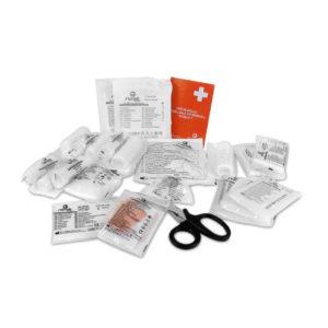 Wkład do apteczki SWING-MED DIN 13157 + ustnik DIN 13169 pierwsza pomoc zestaw opatrunki do biura przemysłowe zawartość apteczki