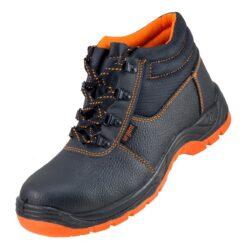 Buty robocze URGENT 101 Sb SRC trzewiki obuwie bezpieczne bhp ochronne z podnoskiem noskiem metalowym stalkapy antypoślizgowe skórzane skórkowe czarne pomarańczowe