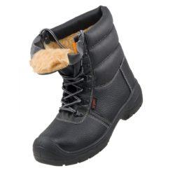Buty Robocze URGENT 112 SB Zimowe do pracy ochronne bezpieczne bhp sklep obuwie trzewiki wysokie ocieplane na zimę z noskiem blachą podnoskiem trapery czarne przód