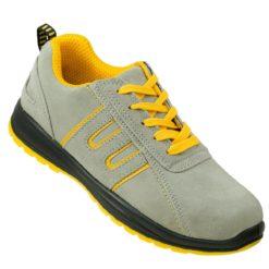 Buty Robocze URGENT 219 S1 obuwie ochronne półbuty do pracy bezpieczne bhp sklep stalkapy z blachą podnoskiem noskiem szare beżowe żółte