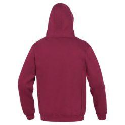 Bluza robocza DELTA PLUS LECCO 3 kolory do pracy ciepła z kapturem burgundowa czerwona winna z napisem bhp sklep panoply tył
