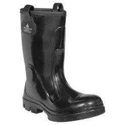 Kalosze ocieplane DELTA PLUS ECRINS S5 SRC gumiaki kalosze do pracy wysokie całotworzywowe podnosek metalowy wkładka antyprzebiciowa obuwie bezpieczne buty bhp wodoodporne nieprzemakalne gumofilce czarne