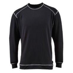 Koszulka antybakteryjna PORTWEST B153 Base Pro bielizna termoaktywna jony srebra długi rękaw dopasowana sklep bhp podkoszulek szybkoschnąca lekka czarna