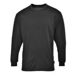 Koszulka termoaktywna PORTWEST B133 do pracy robocza oddychająca podkoszulek ciepły odprowadzający wilgoć długi rękaw sklep bhp czarna