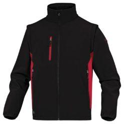Kurtka Softshell DELTA PLUS MYSEN2 4 kolory do pracy robocza lekka wiatrówka bez kaptura z kieszeniami dwukolorowa na bluza odzież robocza ciuchy bhp sklep czarna czerwona