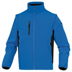 Kurtka Softshell DELTA PLUS MYSEN2 4 kolory do pracy robocza lekka wiatrówka bez kaptura z kieszeniami dwukolorowa na bluza odzież robocza ciuchy bhp sklep niebieska czarna