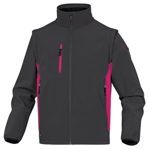 Kurtka Softshell DELTA PLUS MYSEN2 4 kolory do pracy robocza lekka wiatrówka bez kaptura z kieszeniami dwukolorowa na bluza odzież robocza ciuchy bhp sklep szara różowa fuksja damska