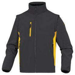 Kurtka Softshell DELTA PLUS MYSEN2 4 kolory do pracy robocza lekka wiatrówka bez kaptura z kieszeniami dwukolorowa na bluza odzież robocza ciuchy bhp sklep szara żółta