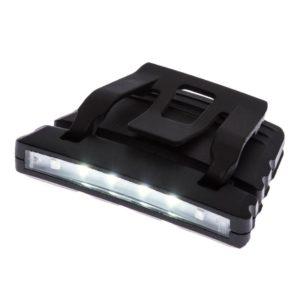 Latarka LED PORTWEST PA72 do czapki lub hełmu lampka ledowa światełko do ładowania usb dioda ledowa na zapięcie czarna 2 tryby świecenia usb odzież bhp zapinka