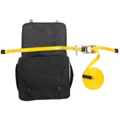 Lina bezpieczeństwa do zastosowań poziomych PORTWEST FP01 do pracy na wysokości asekuracyjna ochronna mocna poliestrowa żółta z torbą transportową