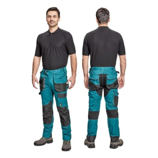 Spodnie robocze CERVA DAYBORO 4 kolory do pracy w pas ochronne odzież z kieszeniami slimowane sklep bhp wzmocnione wytrzymałe dla pracownika morskie na modelu