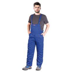 Ogrodniczki robocze ocieplane REIS SMO-PLUS spodnie szwedzkie szwedy z kieszeniami ochronne robocze na zimę zimowe grube z ociepliną sklep bhp odzież do pracy dla pracowników system bhp niebieskie