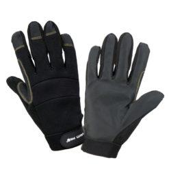 Rękawice ochronne LAHTI PRO L2810 warsztatowe wygodne wysokiej jakości na rzep rzepę rękawiczki do pracy bhp sklep neopren antypoślizgowe poliester czarne profix