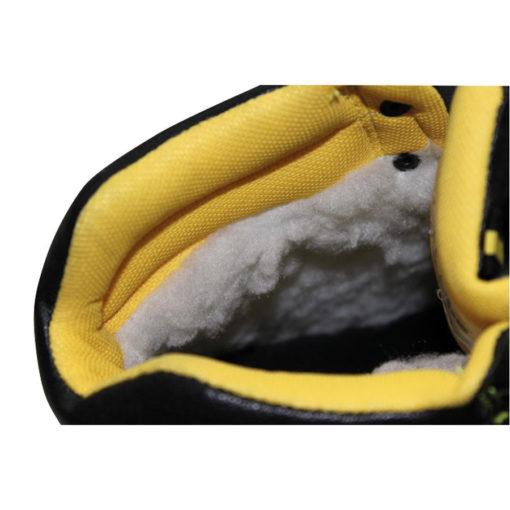 Trzewiki Robocze Cerva BK MF CI S3 SRC Ocieplane do pracy ochronne trapery z ociepliną ciepłe na zimę robocze ochronne obuwie bhp wysokie za kostkę skórzane skórkowe sklep bhp czarne żółte