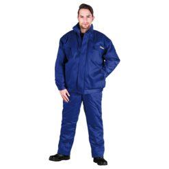 Ubranie Robocze Ocieplane REIS UMO-PLUS komplet ochronny bhp sklep system do pracy odzież bezpieczna na zimę ciepła zimowe kurtka bomber do pasa spodnie ogrodniczki szwedy z ociepliną niebieskie