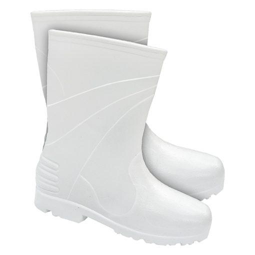 Kalosze Ocieplane Lemigo WELLINGTON Damskie Białe do pracy ochronne sklep bhp system krótkie niskie do połowy łydki piankowe wodoodporne przeciwdeszczowe obuwie zawodowe białe lekkie