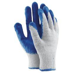 Rękawice Ochronne Ogrifox OX-UNIWAMP Wampirki proste rękawiczki do pracy bezpieczne bhp ochronne wytrzymałe powlekane gumą elastyczne dzianinowe z mankietem sklep system bhp klejone niebieskie