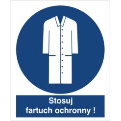 stosuj fartuch ochronny do pracy piktogram bhp niebieski znak bhp sklep system znaki bezpieczeństwa i higieny pracy