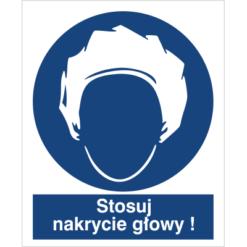 Znak Stosuj Nakrycie Głowy do pracy piktogram bhp niebieski znak bhp sklep system znaki bezpieczeństwa i higieny pracy