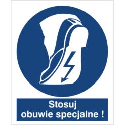 stosuj obuwie specjalne do pracy piktogram bhp niebieski znak bhp sklep system znaki bezpieczeństwa i higieny pracy