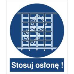 znak stosuj osłonę nakaz stosowania osłony do pracy piktogram bhp niebieski znak bhp sklep system znaki bezpieczeństwa i higieny pracy