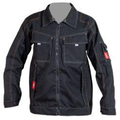 Bluza robocza URGENT URG-B Czarna do pracy lekka bluza ochronna dla pracowników bhp sklep system internetowy na suwak komplet ubranie ochronne czarne