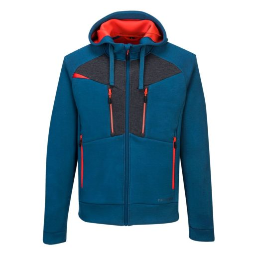 Bluza robocza z kapturem PORTWEST DX472 2 kolory ochronna ciepła do pracy na suwak dopasowana odzież robocza sklep bhp internetowy system niebieska szara pomarańczowa