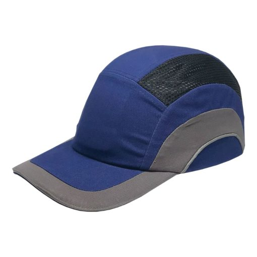Hełm ochronny lekki REIS BUMPCAPMOVE NS do pracy roboczy lekki czapka z wkładką twarda środki ochrony indywidualnej antyskalpowy hełm kask z daszkiem bhp sklep system bejsbolówka raw-pol niebieska szara