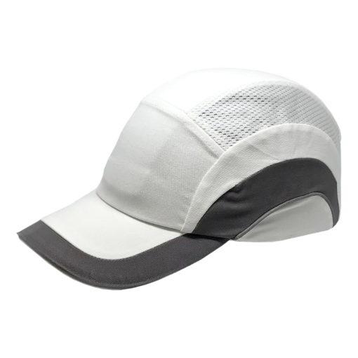Hełm ochronny lekki REIS BUMPCAPMOVE WS do pracy roboczy lekki czapka z wkładką twarda środki ochrony indywidualnej antyskalpowy hełm kask z daszkiem bhp sklep system bejsbolówka raw-pol biała szara
